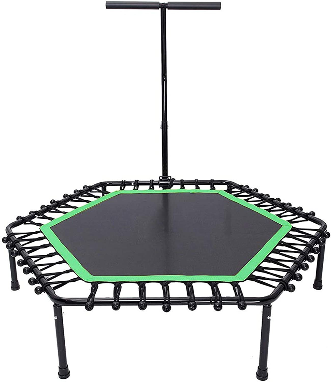GXY Trampolin Bounce Bett Sprung Trampolin Erwachsene Gymnastik Heim Yoga Trampolin Indoor Trampolin Touch Bounce Bett Gewichtsverlust Trampolin Lager Gewicht 150 kg (Farbe   schwarz, Größe   128CM)