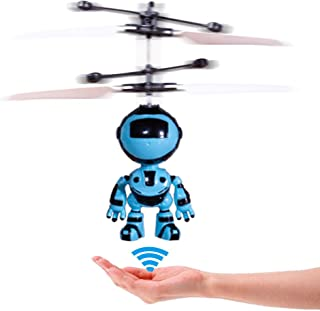 PALA PERRA RC Helicopter Flying Toys with Rechargeable Mini Infrared Induction Drone, RC Toys for Kids Boys Girls Indoor Games (Flying Robot)