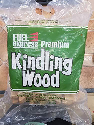 FUEL EXPRESS Kiln madera seca Kindling - encendedores naturales para quemadores de troncos, leña para fuegos caseros, barbacoas, hogueras, chimeneas. Paquete de 4