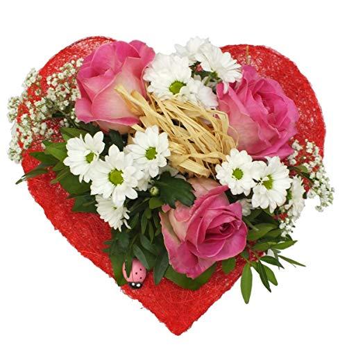 VERSANDKOSTENFREI Blumenstrauß Sweet Love + kostenlose Glückwunschkarte Blumenversand