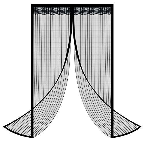 Cortina Mosquitera Para Puertas, GUBOOM Mosquitera Puerta Magnética, Cierra Automáticamente, Fácil de Instalar Adecuado para Puertas de Salón, Balcón, Corredor (80x210 cm)