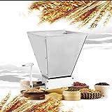 Handcraft - Molinillo de cereales y malta con dos ruedas, 4 l, 2 rodillos, acero inoxidable, para romper malta de alto rendimiento