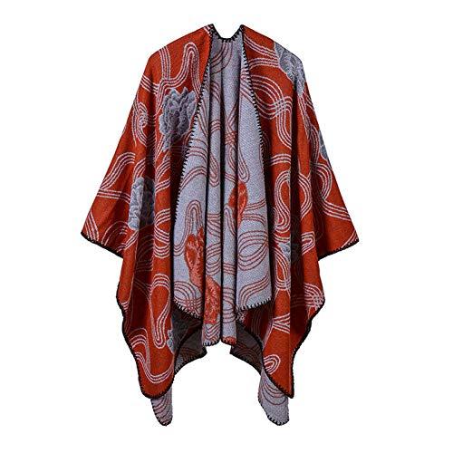 Waniii 2019 Merk vrouwen poncho's en omhangingen kasjmier sjaal dikke warme wintersjaal zwart deken breien dames pashmina mantel