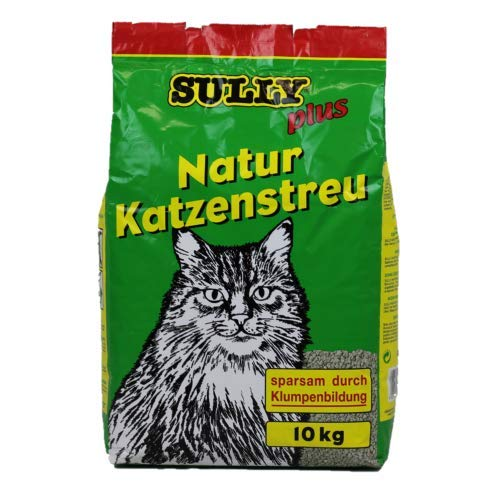 Sully Plus NaturKatzenstreu 2 x 10 kg (= 20 kg) - Klumpstreu für Katzen - sparsames Katzenstreu