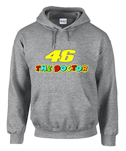 shirt19 46 The Doctor-Valentino Rossi Pilot Schwarz Motorrad Kapuzenpullover Hoodie – 3126 (L)