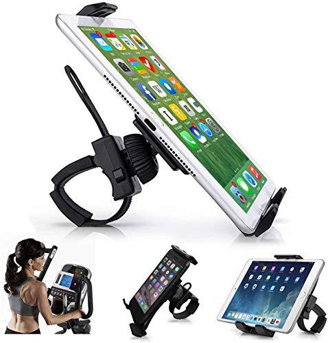 AboveTEK Porta Cellulare Bici, Supporto Bicicletta Smartphone, Supporto iPad Spinning Bici con 360° Rotazione per Cyclette, GPS, Tablet iPhone Samsung Huawei (8,9'-30,5' cm)