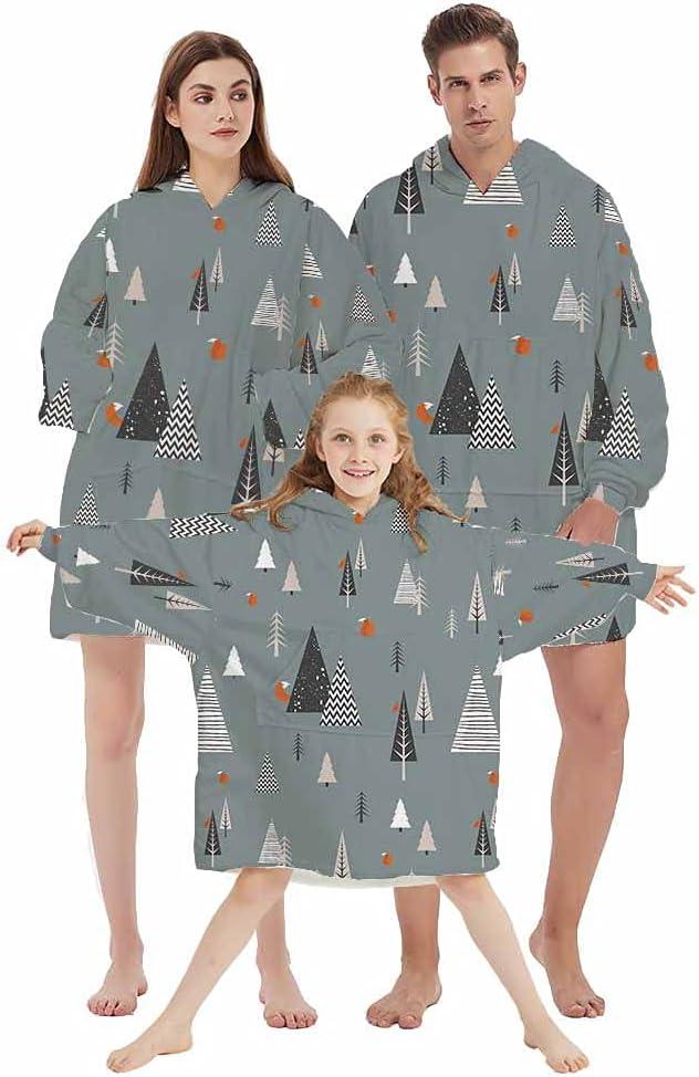 Easy-to-use Homefit Hoodie Sherpa Mail order Blanket Christmas Blan Santa Claus Pattern