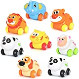 Liberty Imports Cartoon Animals Friction Push And Go Toy Cars Play Set For