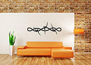 Vinyl Sticker Bob Wire Fence Barbed Bobbed Sharp Edges Tattoo Steel Jail Poster Mural Decal Wall Art Decor SA2425