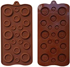 2 Pack 19-Cavity Silicone Button Chocolate DIY Mold Baby Shower Fondant Sugar Craft Chocolate Chip