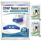 RespLabs CPAP Mask Liner für Nasenmasken - Passend für die Dreamwear Nasenmaske, 3er Pack - Feuchtigkeitstransport, Druckreduzierung, Komfortverbesserung. Super Weiche, Waschbare Baumwollbezüge.
