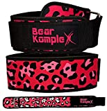 """Bear KompleX 4"""" STRAIGHT Weightlifting belt for Powerlifting, Squats, Weight Training and more. Low profile velcro with super firm back for maximum stability & exceptional comfort. Easily Adjustable"""
