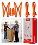 REV Moving Shoulder Harness Straps (Orange) Lifting System for 2-Persons to Carry Heavy Goods (Up to 800lb) Furniture, Appliances, Mattresses Preventing Back and Shoulder Pain