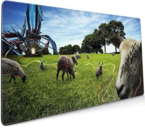 Dieren Afbeeldingen Profional Grote Muis Pad Toetsenbord Pad Lange ed Multipurpose Computer Game Muis Mat Eén maat Animals Retro Funny Weird Sheep