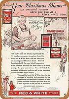 ブリキ看板1933赤白ひき肉グッズ壁アート