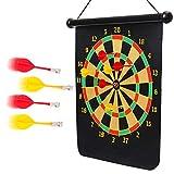 BETTERLINE Magnetic Dart Board Game Set - 16 x 19 Inch (41.5x47.5cm)...