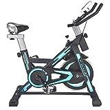 Ljleey-SP Bici di filatura Fitness Cardio Workout Weightloss Allenamento Muto Computer di Allenamento al Coperto ed ellittica Cross Trainer (Colore : Blu, Dimensione : Free Size)