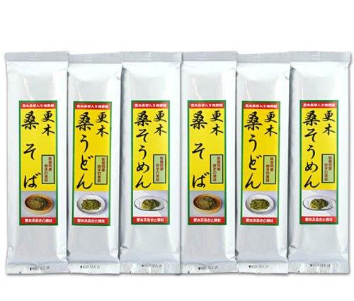 更木ふるさと興社 桑茶 麺3種セット 桑そば・桑うどん・桑そうめん 200g×各2 ギフト箱入