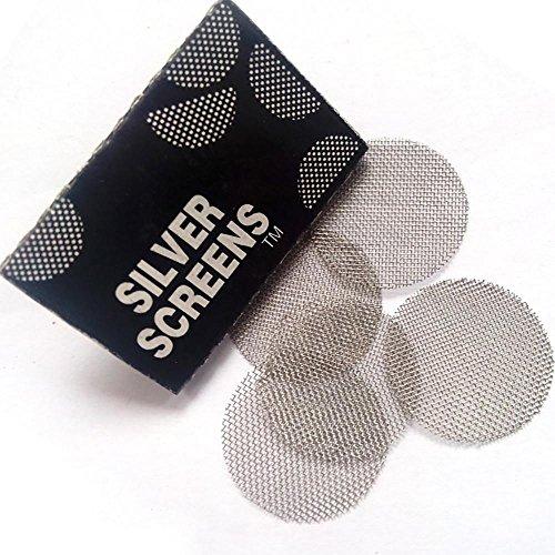 Doublehero 100 Stücke Edelstahl Screen Rohr Filterung Multifunktionale Shisha Wasserpfeife Metallfilter Rauchrohre Bildschirm (A)