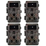 4-Pack Game Trail Deer Cameras 20MP 1920x1080P H.264 Video with 100Ft Night Vision No Glow 0.1S...