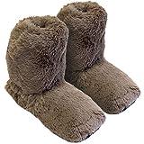 Hot Sox - Zapatillas térmicas, calentables en microondas en el horno, talla única M 36-41 - marrón