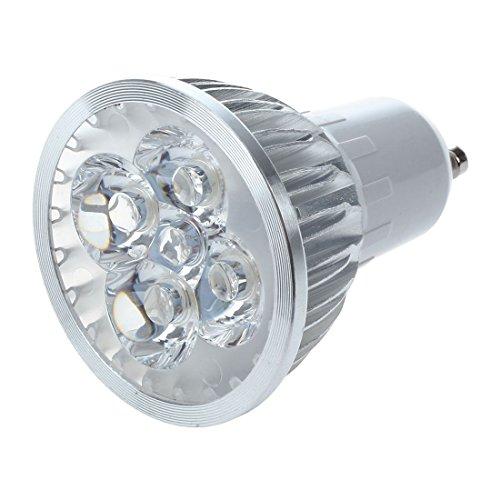 SODIAL(R) 1x Gu10 Blanc chaud 4 Led 6W economie d'energie Ampoule Lampe Spot 220V