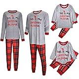MIRRAY NoëL Femmes Maman Imprimé Lettre Top + Treillis Pantalon Xmas Family...