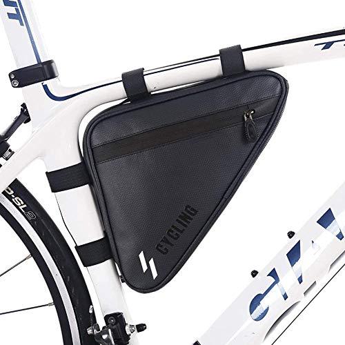 ZHANGXJ MTB Bolsas para el Manillar Impermeable Bolsa Bici Equipo de Ciclismo al Aire Libre Bolsa Táctil de Tubo Superior Delantero Bolsas de Bicicleta, Negro Herramienta