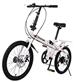 20in 7-Speed City Folding Compact Suspension Bike City Bicycle