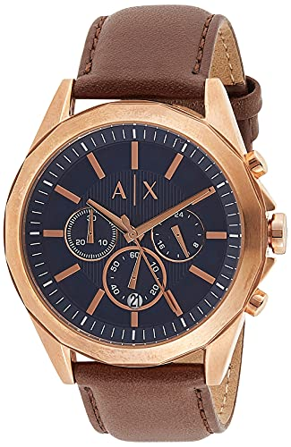 Armani Exchange Orologio Cronografo Quarzo Uomo con Cinturino in Acciaio Inossidabile AX2626