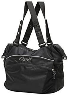 #B30 Black Canvas Convertible Tote Dance Bag Zipper Closure