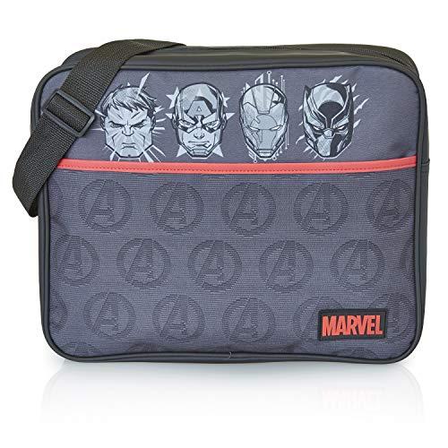 Marvel Avengers Umhängetasche, Kuriertasche Herren, Shoulder Bag Crossbody Tasche Männer, Jungen Gym Bag Mit Captain America, Hulk, Black Panther Und Iron Man, Schultertasche, Coole Fanartikel