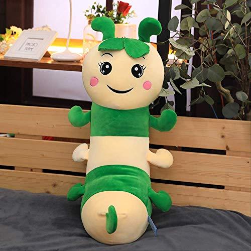 Juguetes de peluche Gusano de seda linda del bebé de juguete de felpa larga tira de almohadas for dormir colorido 30cm Oruga Almohada marioneta de la muñeca de la muñeca (0,15 kg) Orange, Tamaño: 75 c