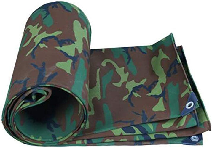 Bache Toile de camouflage militaire épais tissu imperméable imperméable crème solaire bache canopée huile canopée tente tissu de pluie (Taille   3  4m)