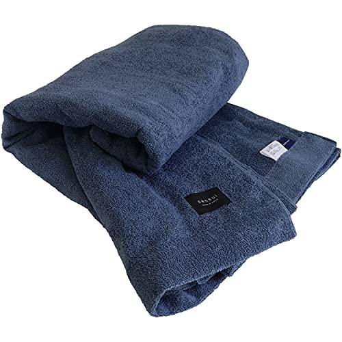 【Amazon限定ブランド】sensui タオルケット 最高級超長綿 日本製 寝具 抗菌防臭 両面パイル シングルサイズ 約140×190cm ネイビー