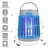 AICase Solar Camping Lantern with Bug Zapper, 6W Portable Waterproof Tent Light Camp Lamp Mosqutio Iinsect Killer with USB Power, SOS Emergency Warning Lighting for Home Camping Traveling Garage Patio