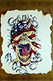 Guns'n Roses Flagge um Totenschädel 61 x 92 cm