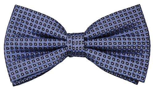 Designer Nœud papillon soie bleu brillant royal à pois - Nœud papillon soie silk