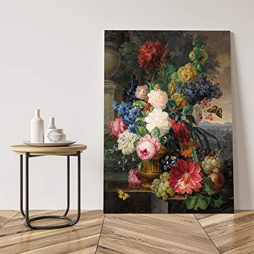 GJQFJBS Classic Rose Leinwand Vase Wandkunst Poster Druck Wandbild Wohnzimmer Künstler Wohnkultur A5 60x90cm