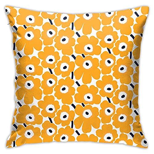 Xutazu Marimekko Unik-Ko Pillowcase Double-Sided Printed Pillow Square Pillowcase with Hidden Zipper 18inch18inch