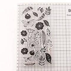 Flowers Leaves Feather Dandelion Stamps Rubber Clear Stamp/Seal Scrapbook/Photo Decorative Card Making Clear Stamp #1