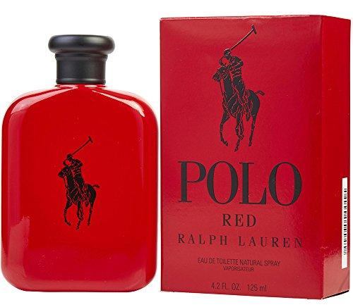 Ralph Lauren Pòlò Red Men Eau De Toilette Spray, for Man EDT 4.2 fl oz, 125 m