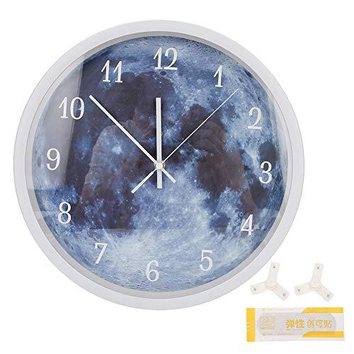 Qinlorgo Hermoso Reloj de Pared, Luminoso Reloj de Pared Sala de Estar Dormitorio hogar Oficina Colgante Reloj decoración