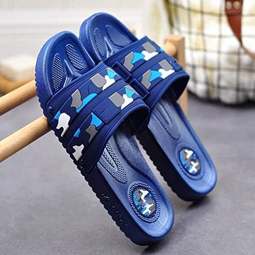TQJ Apatillas de Baño Antideslizantes Zapatillas De Baño Hombre Playa Y Piscina Chanclas, Hogareño De Baño De Verano Baño Baño Zapatillas para Interiores Sandalias De Ducha (Size : 260)