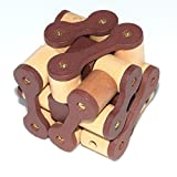 Joyeee 3D Wooden Brain Teaser Puzzle Chain Lock – Diamond Cube Interlocking Jigsaw Puzzles for Teens and Adults - Challenge Your Logical Thinking - Ideal Gift and Decoration Idea