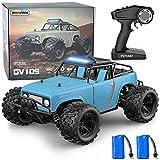 GizmoVine Ferngesteuertes Auto, 4WD 40KM / H 2,4 GHz Hochgeschwindigkeits Hobby RC Auto, Kollisionsvermeidung und Wasserdicht, mit 380 Starkem Magnetmotor, für Kinder und Erwachsene (Blau)