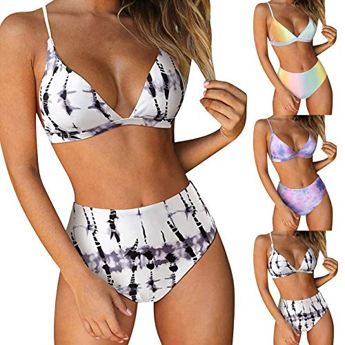 ZGNB Sport Bikini Damen Ruffles High Waist Oversize Tankini Damen Bikini Weiss Damen Umstands Bikini Damen beachlife Bikini Bikini Short Weiß#12 Blau