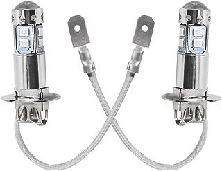 labwork 2pcs Xtreme Super Bright LED H3 Fog Light Bulbs - High Power COB Universal H3 LED Bulb LED Fog Lights Bulbs Lamp Replacement - 10000K Deep Blue