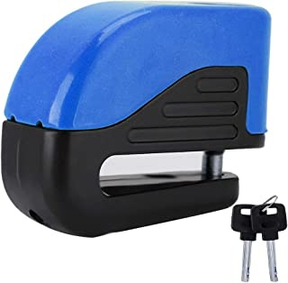 Anti-Theft Alarm Disc Lock, Disc Brake Lock Security Alarming System For Motorcycle Bicycle (Blue)