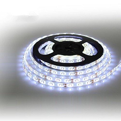 ☀ Dergo ☀ 12V Waterproof LED Strip Light 5M 300LEDs For Boat / Truck / Car/ Suv / Rv White